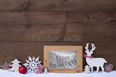 wooden background snow frame merry christmas