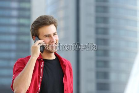 entrepreneur business man talking on the