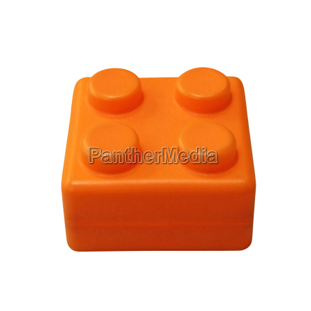 lego block isolated on white background