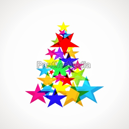 background with christmas tree made up