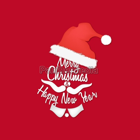 red christmas background of santa claus