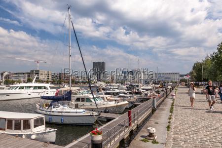 promenade at the marina in antwerp