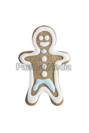 man shaped gingerbread cookie