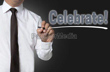 celebrate is written by businessman background