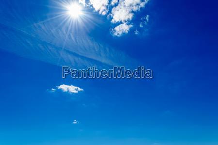 bright sun shining in the sky