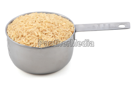 long grain brown rice in a