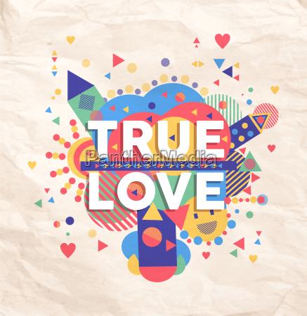 true love quote poster design
