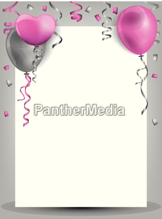 birthday background mt balloons confetti and