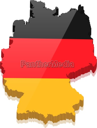 germany map with germany colors vector