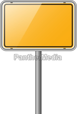 place plate yellow empty vector white
