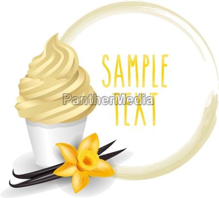 soft ice cream cup vanilla variety