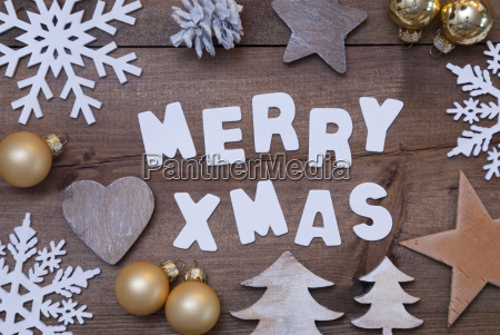 wooden background merry xmas golden christmas