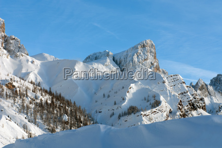 alpine scene the dolomites northern italy
