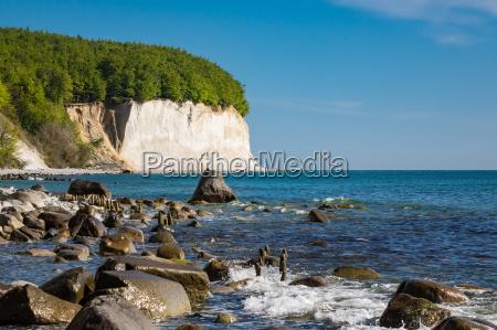 baltic sea coast on the island