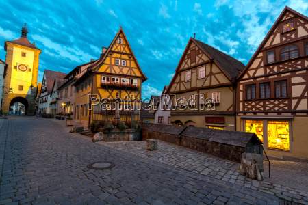 rothenburg ob der tauber germany at