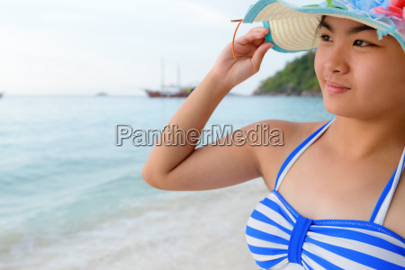 girl on the beach at similan