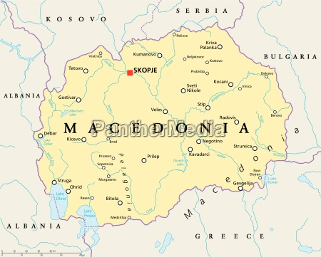 macedonia political map