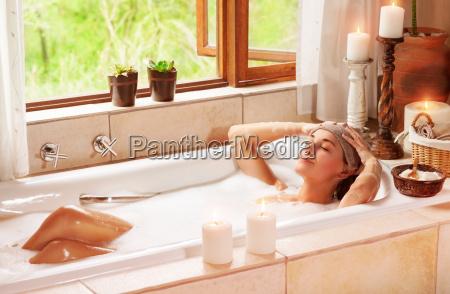 woman relaxing at spa resort