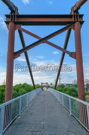 old rusty iron footbridge