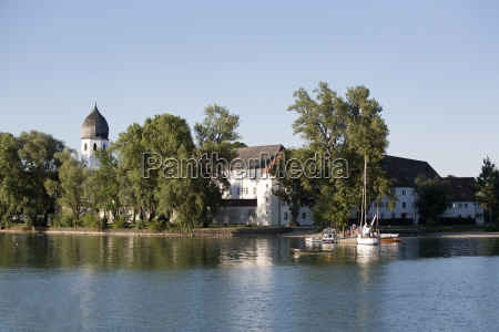 isle of frauenchiemsee in bavaria germany