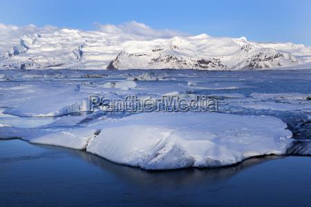 glacier lagoon jokulsarlon in iceland in