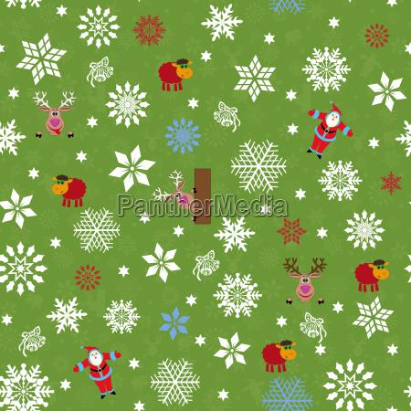 seamless pattern for christmas motifs