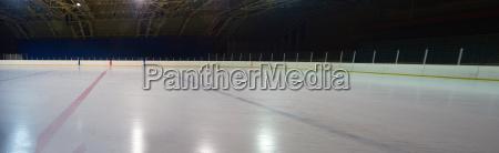 empty ice rink hockey arena