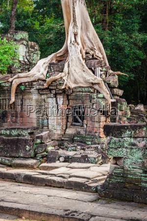 preah khan temple angkor area siem