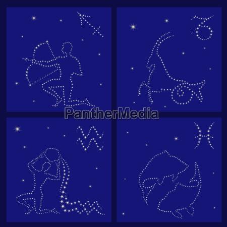 four zodiac signs