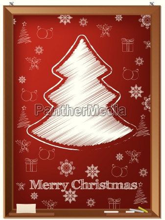 red chalkboard greeting card with scribbled