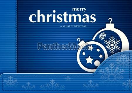 blue christmas striped card