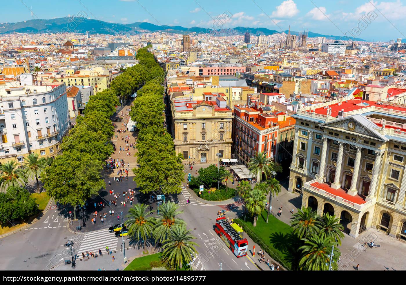 las, ramblas, in, barcelona, , catalonia, , spain - 14895777