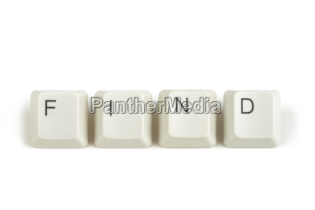 find from scattered keyboard keys on