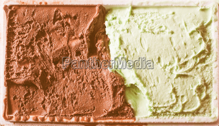 retro looking chocolate and mint icecream