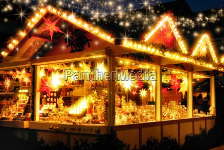 stall at the christmas market no