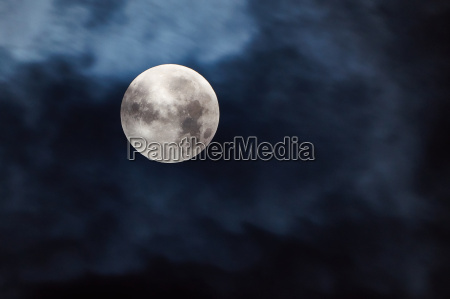 great silver moon in the sky