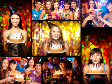friends at birthday party