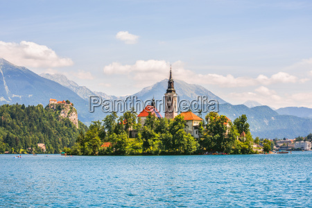 catholic church on island and bled