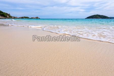 beach and waves at similan national