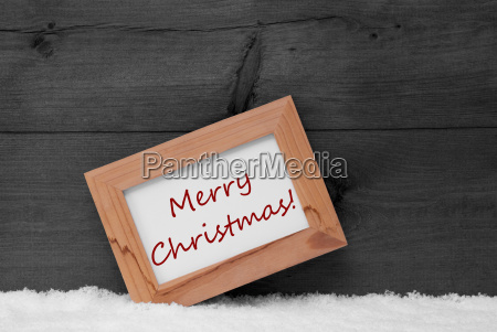 picture frame with gray background merry