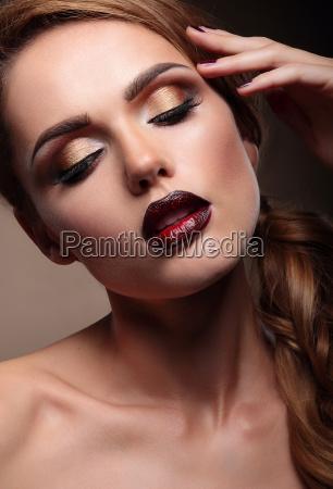 closeup portrait of beautiful stylish