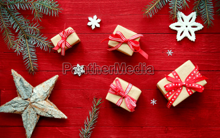 colorful red christmas background