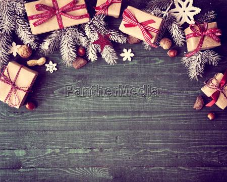 seasonal rustic christmas border