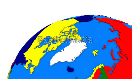 arctic north polar region on earth