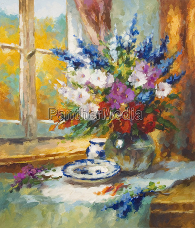painting flowers colorful