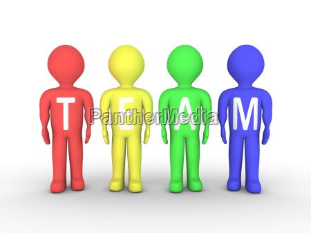 group of people as team