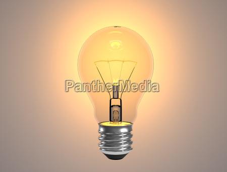 turn on tungsten light bulb turn