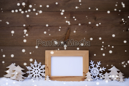 white christmas decoration with copy space