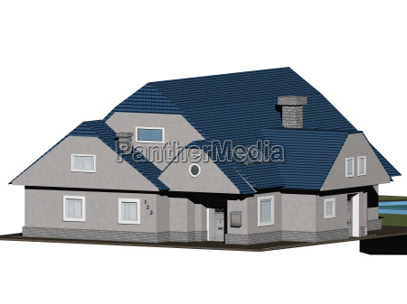 isolated family house