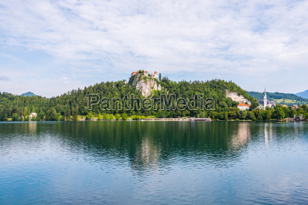 bled castle at bled lake in